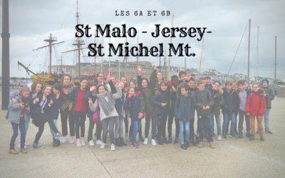 Retour sur le voyage des 6A et B du collège Chavagnes à Saint-Malo- Jersey – Mont Saint-Michel